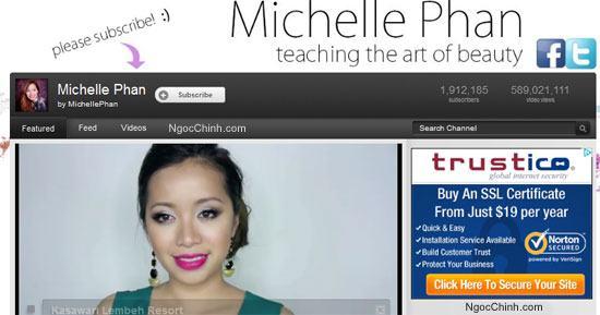 Kênh dạy trang điểm của Michelle Phan trên Youtube